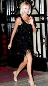 Victoria Beckham skiny black dress