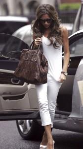Victoria Beckham tight white dress