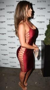 Abigail Clarke tight dress
