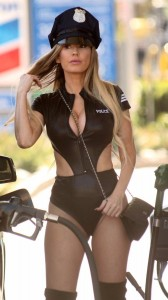 Ana Braga as sexy police