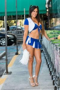 Claudia Romani sexy cheerleader