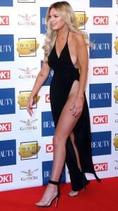 Danielle Sellers in black sexy dress