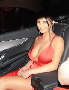 Demi Rose in sexy dress