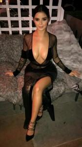 Demi Rose massive cleavage