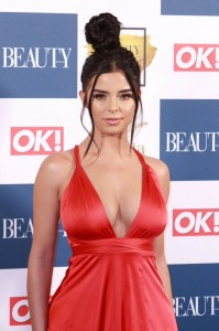 Demi Rose sexy red dress