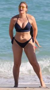 Iskra Lawrence in night-blue bikini