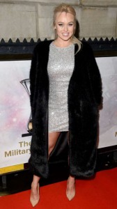 Jorgie Porter sexy silver dress