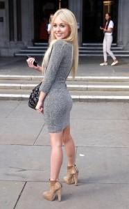 Jorgie Porter sexy tight dress