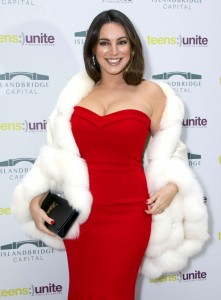 Kelly Brook sexy red dress