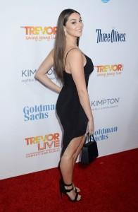 Kira Kosarin tight red dress