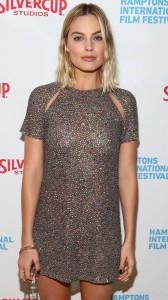 Margot Robbie see thru dress