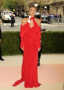 Maria Sharapova in red dress