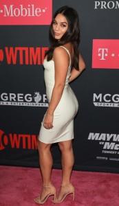 Vanessa Hudgens sexy white dress