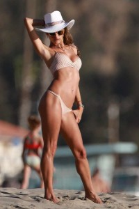 Alessandra Ambrosio brown bikini
