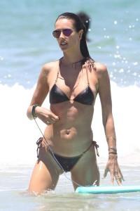 Alessandra Ambrosio in black bikini