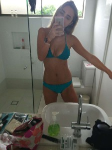 Amelia Strofield thong bikini