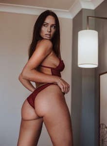 Clare Richards red lingerie 2