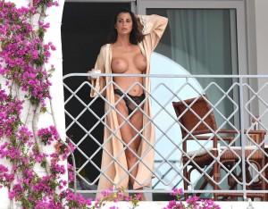 *EXCLUSIVE* **WEB MUST CALL FOR PRICING** Paraguay model Claudia Galanti Topless in Sardinia
