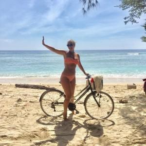 Hayley McQueen on bike 2