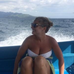 Hayley McQueen on boat 2