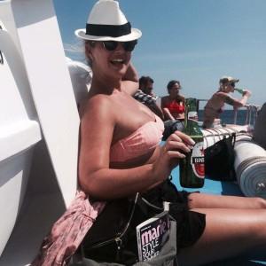 Hayley McQueen on yacht 2