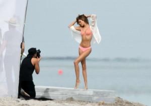 Josephine Skriver photoshoot backstage
