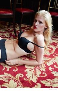 Lara Stone lingerie