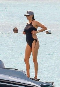 Lauren Silverman black sexy swimsuit