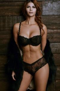 Micaela Schäfer in black hot lingerie