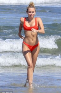 Miley Cyrus at the beach