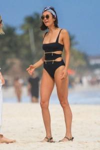 Nina Dobrev at beach