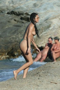 Shay Mitchell at nudists beach