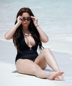 Amelia Goodman black swimsuit