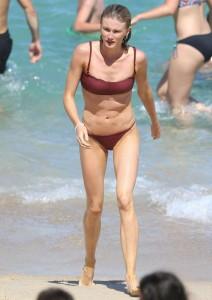 Amy Pejkovic red bikini