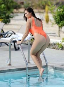 Chloe Goodman orange swimsuit
