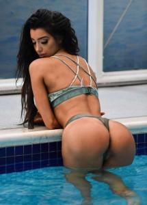 Chloe Khan sexy arse