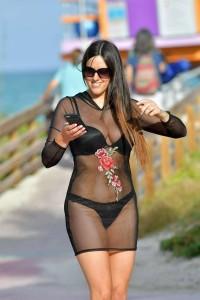 Claudia Romani see through dress