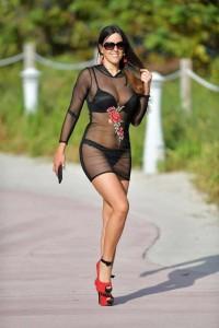 Claudia Romani see thru dress