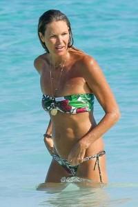 Elle Macpherson hot flowers bikini