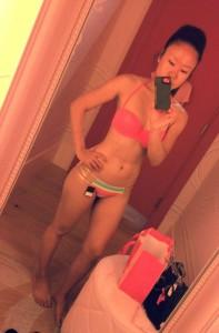 Gail Kim lingerie selfie