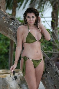 Imogen Thomas wet bikini