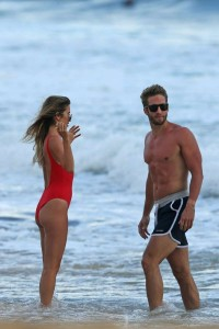 EXCLUSIVE: A bikini-clad Kaitlyn Bristowe and shirtless Shawn Booth check out a sea turtle