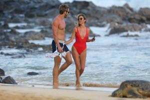 Kaitlyn Bristowe red swimsuit
