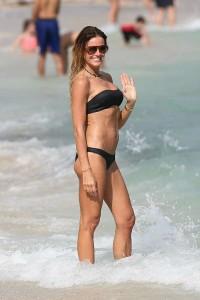 Kelly Bensimon black sexy bikini