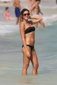 Kelly Bensimon sexy black bikini