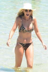 Roxy Jacenko in leopard bikini