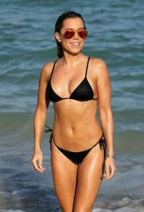 Sylvie Meis wet bikini