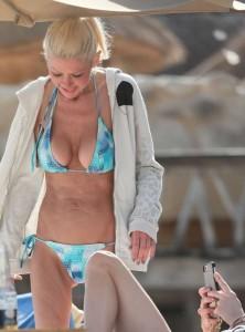 Tara Reid in blue bikini