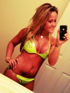 Jenelle Evans bikini nude