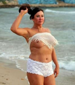 Lisa Appleton big boobs on beach